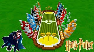 """Minecraft Tutorial: How To Make A Quidditch Pitch """"Harry Potter"""""""