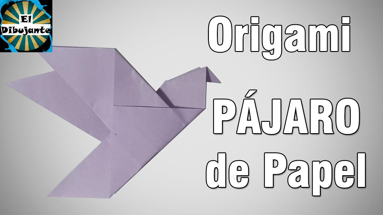 Origami como hacer un pajaro de papel el dibujante - Como hacer un estor enrollable paso a paso ...