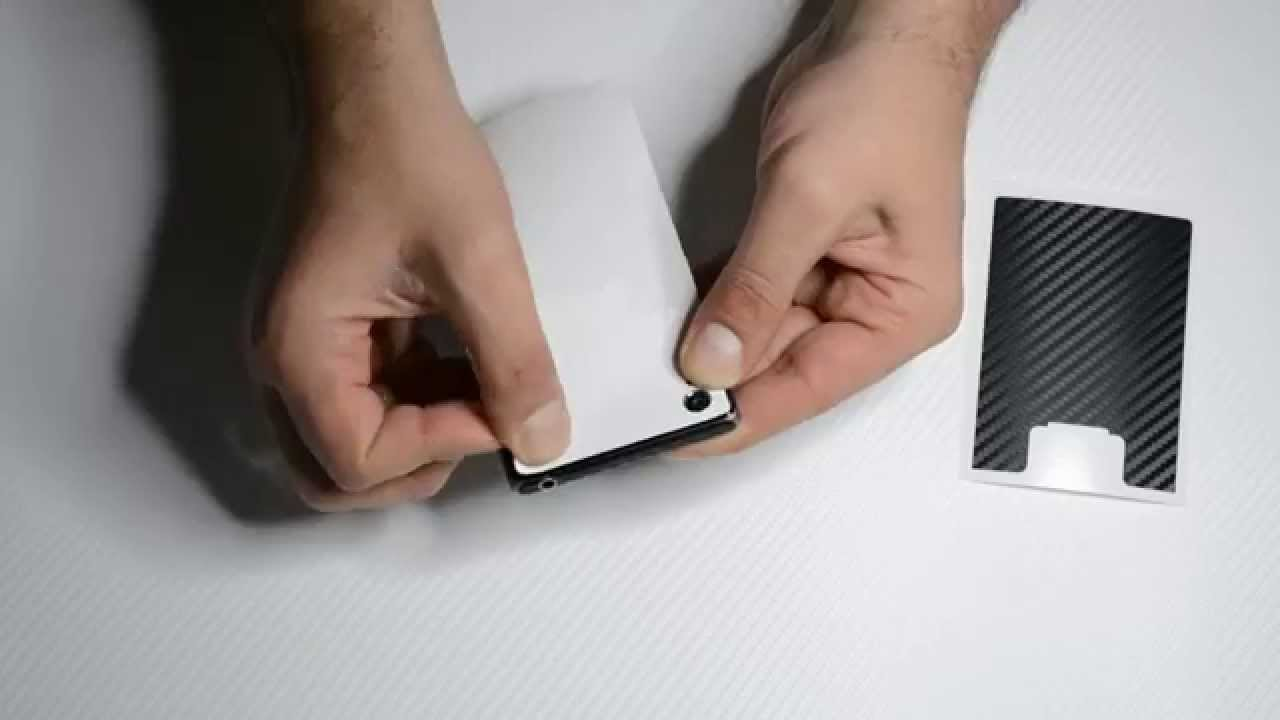 Black and white edition CARBON Fibre Skin for SONY XPERIA Z1 - Review /  Install