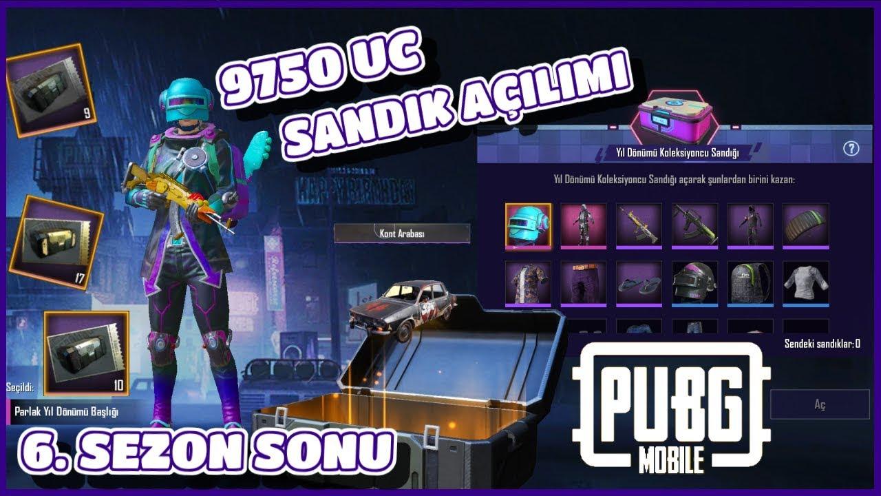 6. SEZON SONU SANDIK AÇILIMI - PUBG Mobile (9750 UC Değerinde)