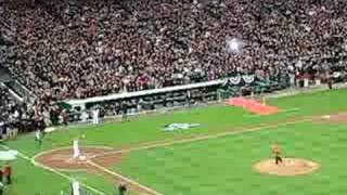 President George Bush Throwing First Pitch