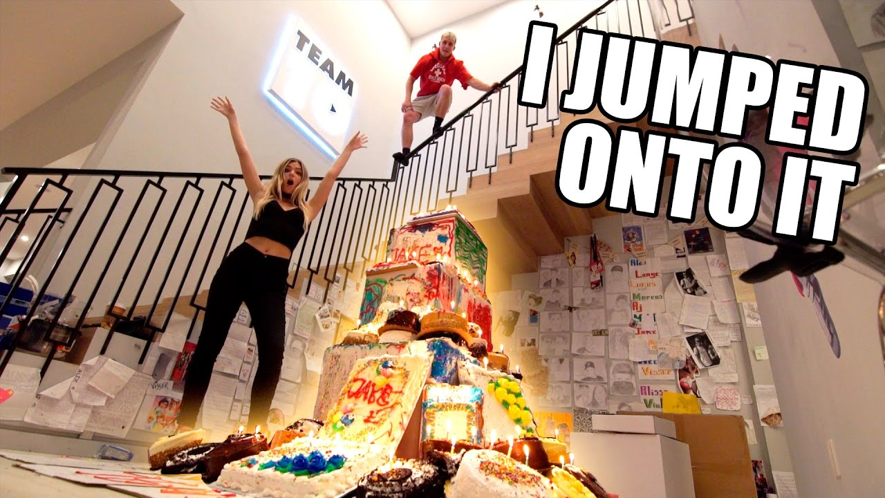 Giant Birthday Cake Explosion Youtube