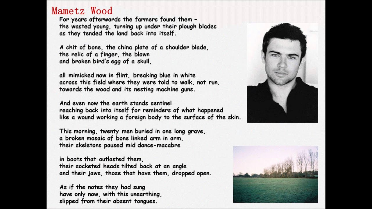 comparison of the poems mametz wood