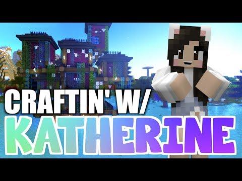 💙 Minecraft HAUNTED HOUSE! Craftin' w/ Katherine Ep. 22
