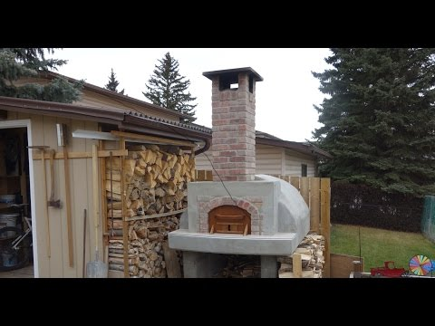 2/4 - Building a Wood Fired Pizza Oven in Calgary, Alberta -The Refractory Portion.