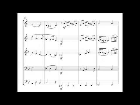 BWV 508 Bist du bei mir. Bach - Brass quintet