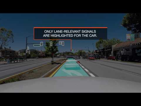 This is how a self-driving car 'sees' the road