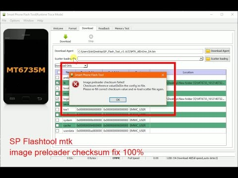 image preloader checksun failed fix 100% mtk 32bit and 64bit by sok vira