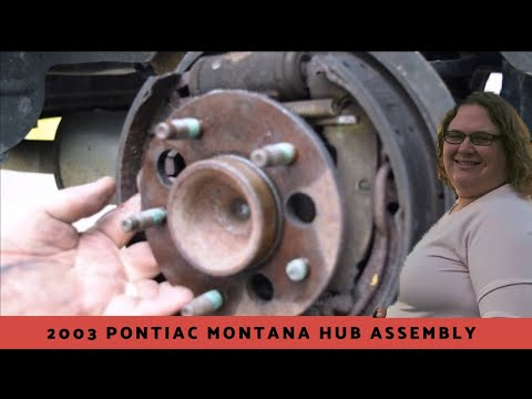 How To Change Pontiac Montana Rear Hub Assembly (drum Brake Hub Assembly Replacement)