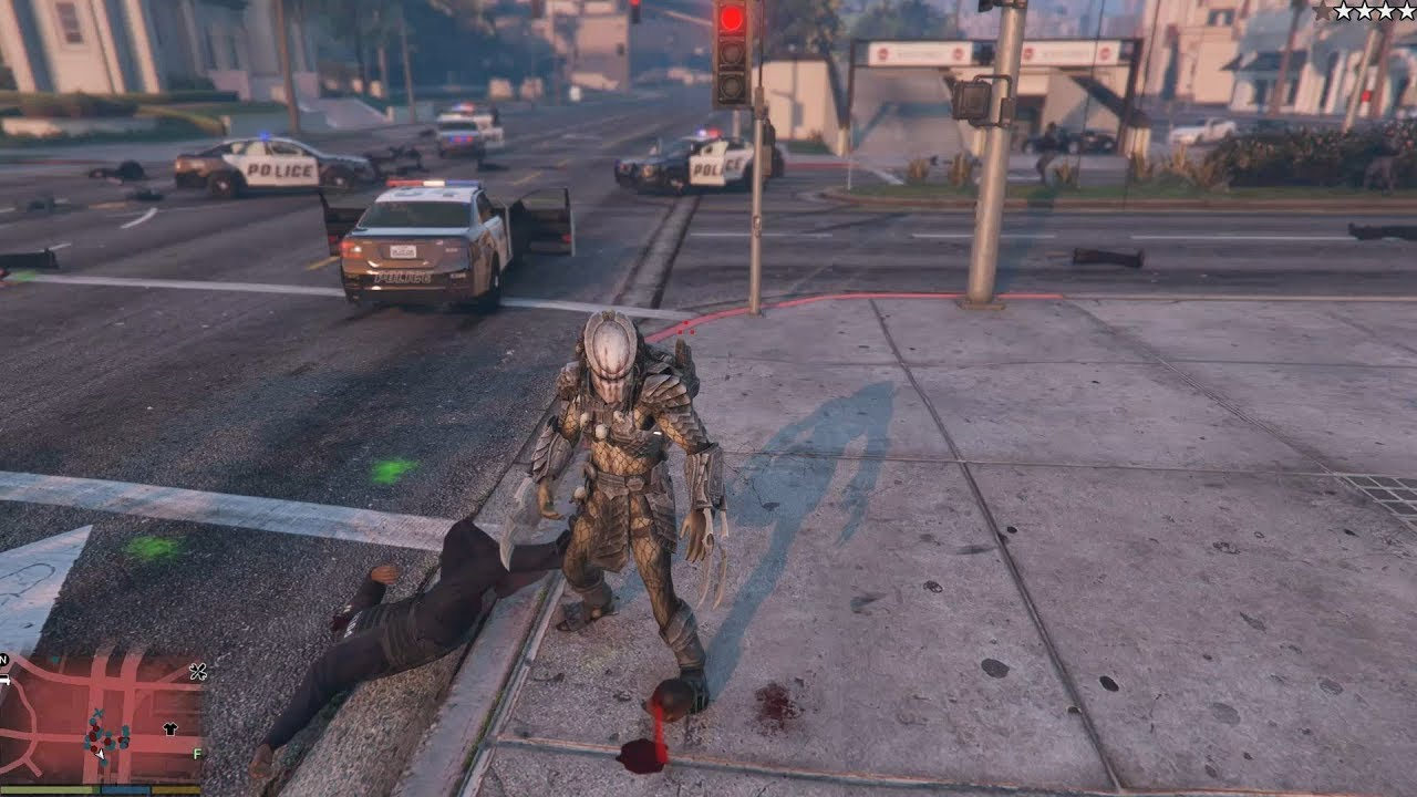 GTA V Predator (2018) - Decapitating people (18+)