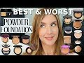 The BEST POWDER FOUNDATION For OILY SKIN   Mature Skin   15 RANKED!