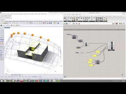 ARCH 230 - V-Ray light studies & DIVA simulations in Grasshopper