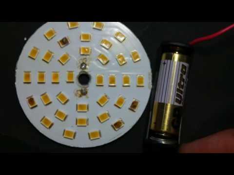 Как перепаять светодиоды в светодиодной лампе
