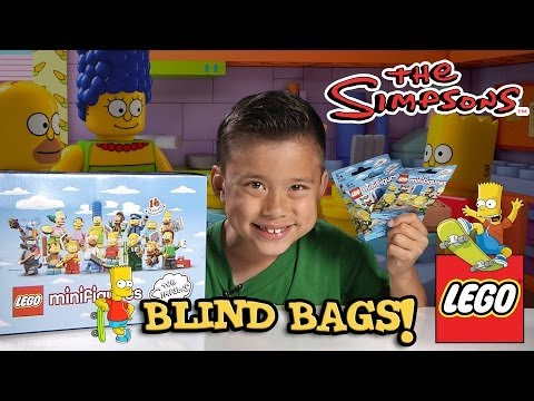 LEGO The SIMPSONS Minifigures! Blind Bag Opening PART 1