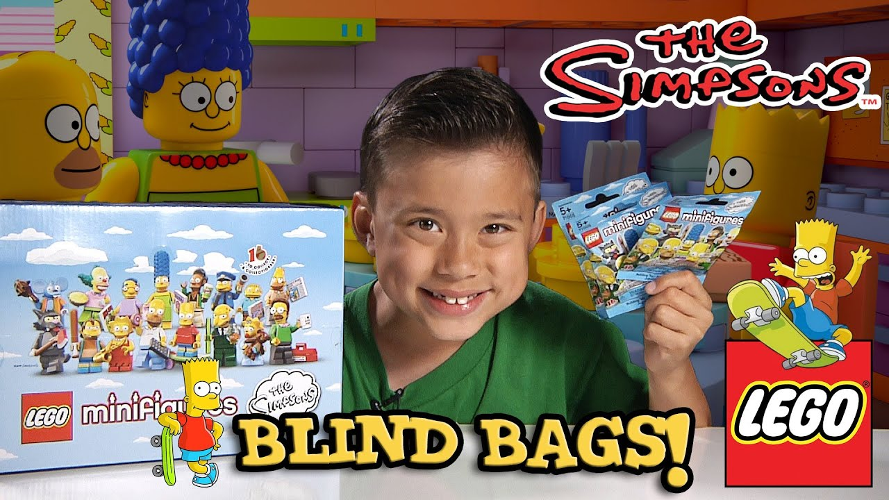 Lego The Simpsons Minifigures Blind Bag Opening Part 1