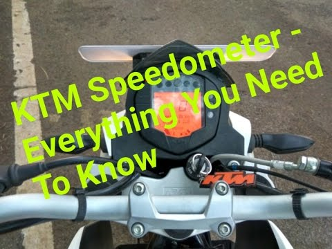 KTM Duke 200/390 RC 200/390 Speedometer - Setting and Functions