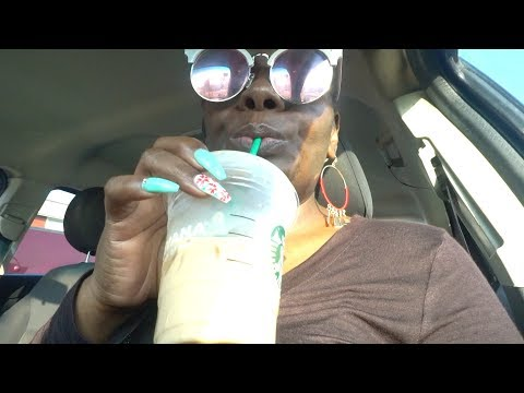 Chewing Gum ASMR Ramble | Starbucks Ice Coffee