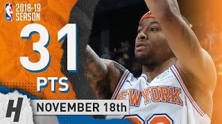 Trey Burke Full Highlights Knicks vs Magic 2018.11.18 - 31 Pts, 2 Ast, 3 Rebounds!