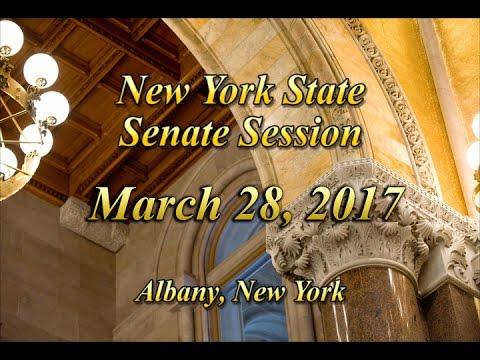New York State Senate Session - 03/28/17
