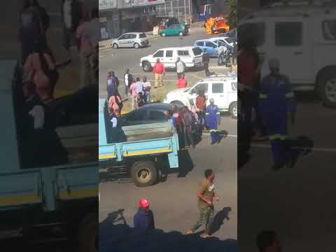 WATCH: Chaos in Richards Bay's CBD right now
