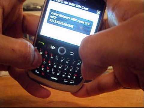 How To UNLOCK TMobile BlackBerry 8900 Javelin