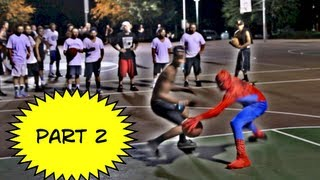 Repeat youtube video Spiderman Plays Basketball Part 2