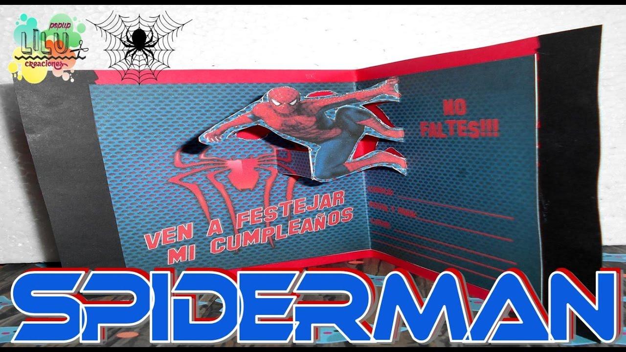 Como Hacer Una Invitación De Spiderman Hombre Araña