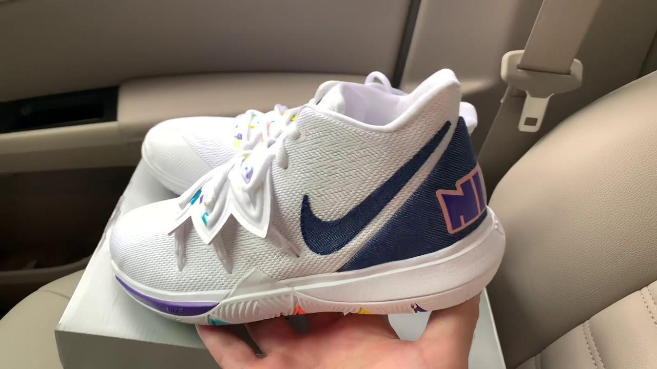 Nike Kyrie 5 White Denim sneaker - YouTube