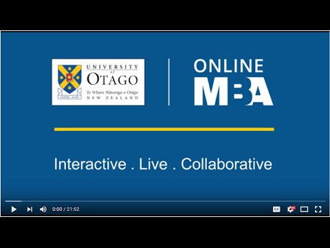 The Otago Online MBA - Introductory Accounting Lecture
