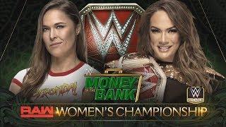 WWE 2K18 - Money in the Bank 2018: RONDA ROUSEY VS NIA JAX (RAW WOMENS CHAMPIONSHIP)