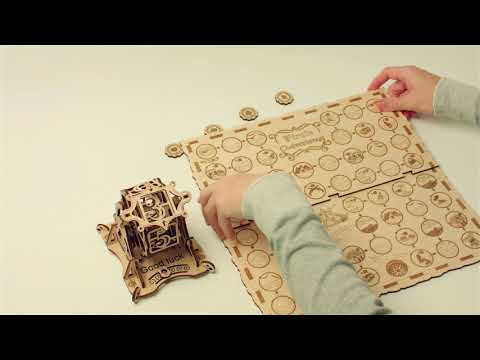 """""""Unboxing Wheel of fortune"""" - Wood Trick mechanical constructor set"""