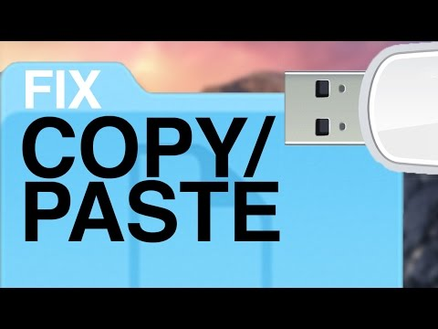 Problem with Copy/Paste files onto USB flash drive on Mac , how to fix