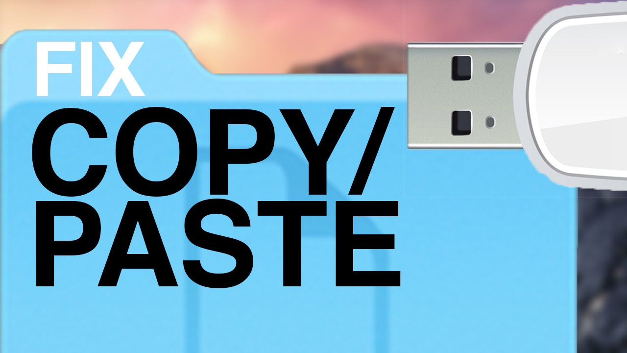 Problem with Copy/Paste files onto USB flash drive on Mac , how to ...
