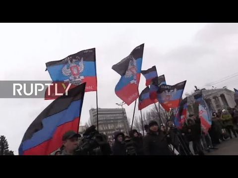 LIVE: Donetsk holds anti-war rally on 2nd anniversary of Minsk Peace agreement