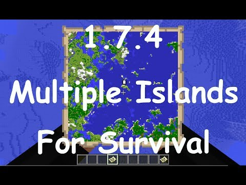 1.7.9 - Multiple Island Survival Seed. Like an Archipelago