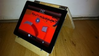 How To Make An Easy Ipad/ Book Stand.