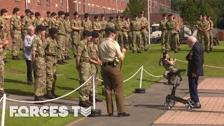 Captain Sir Tom Moore Visits Harrogate's Army Foundation College In New Honorary Role! | Forces TV