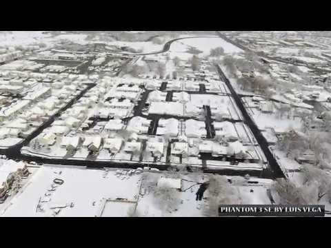 Flying On Snowy Day In West Valley City, Utah.