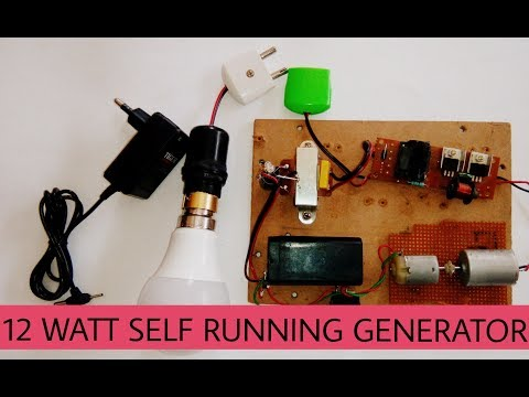 Free energy advances self running 12watts generator | using transformer| dynamo motor| converter