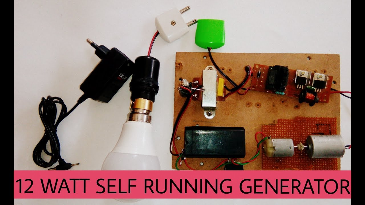 Free Energy Advances Self Running 12watts Generator