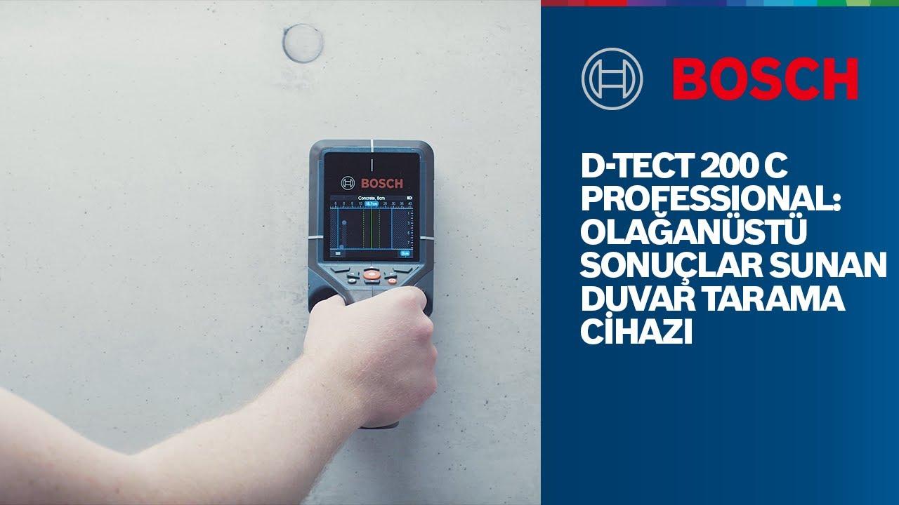 Bosch Professional D-tect 200 C: Olağanüstü sonuçlar sunan duvar tarama cihazı