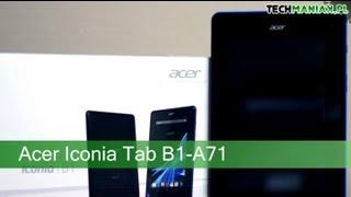 Wideo test i recenzja tabletu Acer Iconia Tab B1-A71
