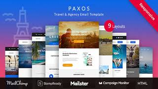 Paxos - Responsive Travel Agency Email Newsletter Template Stampready Builder + Mailchimp +