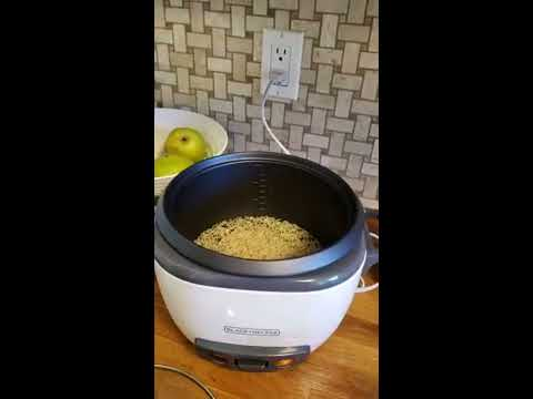 black-and-decker-rice-cooker-and-steamer-unbox-and-first-use