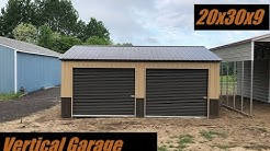 20 x 30 x 9 Wainscot Metal Garage installed in Grant, Michigan by Midwest Steel Carports!