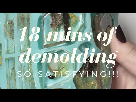 18 Minutes of Relaxing Resin Demolding Video