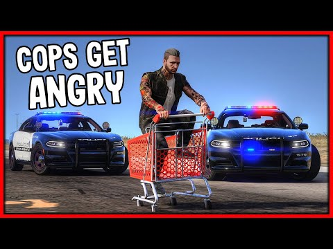 GTA 5 Roleplay - Annoying Cops In Shopping Cart Chase | RedlineRP #886