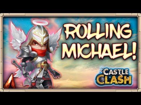 Castle Clash Rolling 80k Gems For Michael! Succubus Curse!