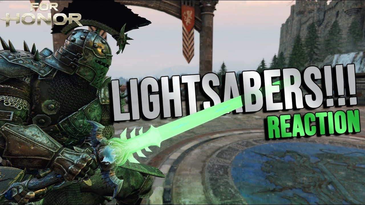 For Honor LIGHTSABERS!! ALL HEROES! (Reaction)