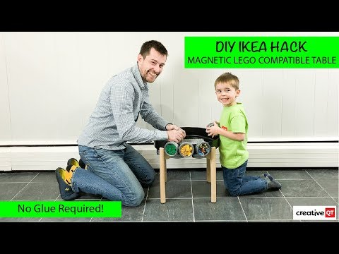 IKEA Hack Magnetic LEGO Compatible Table